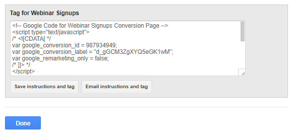 PPC Campaign Tracking Code