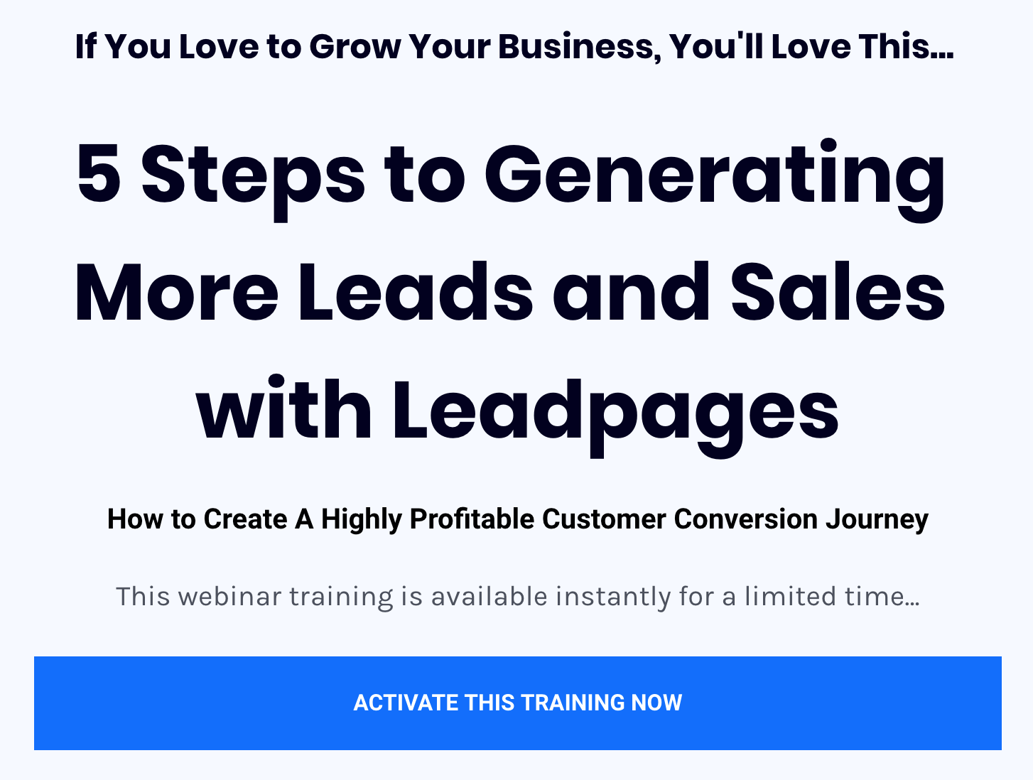 Leadpages And Drip Can Be Fun For Anyone