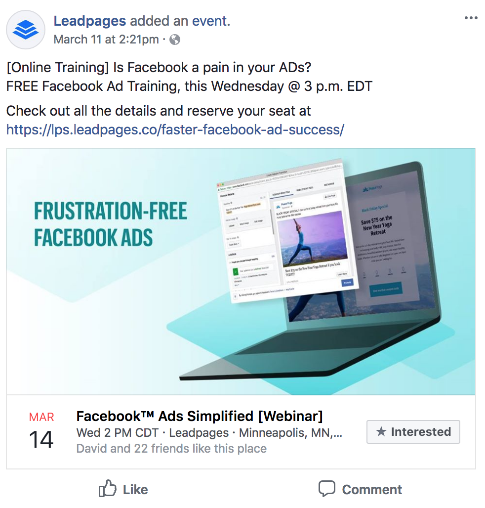 Facebook Leadpages for Dummies