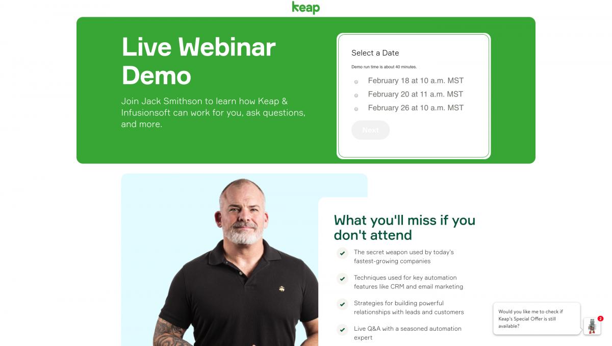 SaaS-Webinars-Keap-Demo
