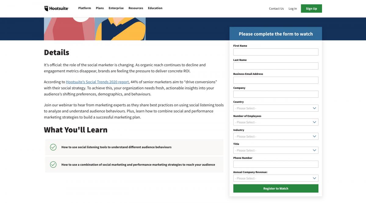 SaaS-Webinars-Hootsuite-Registration-Form