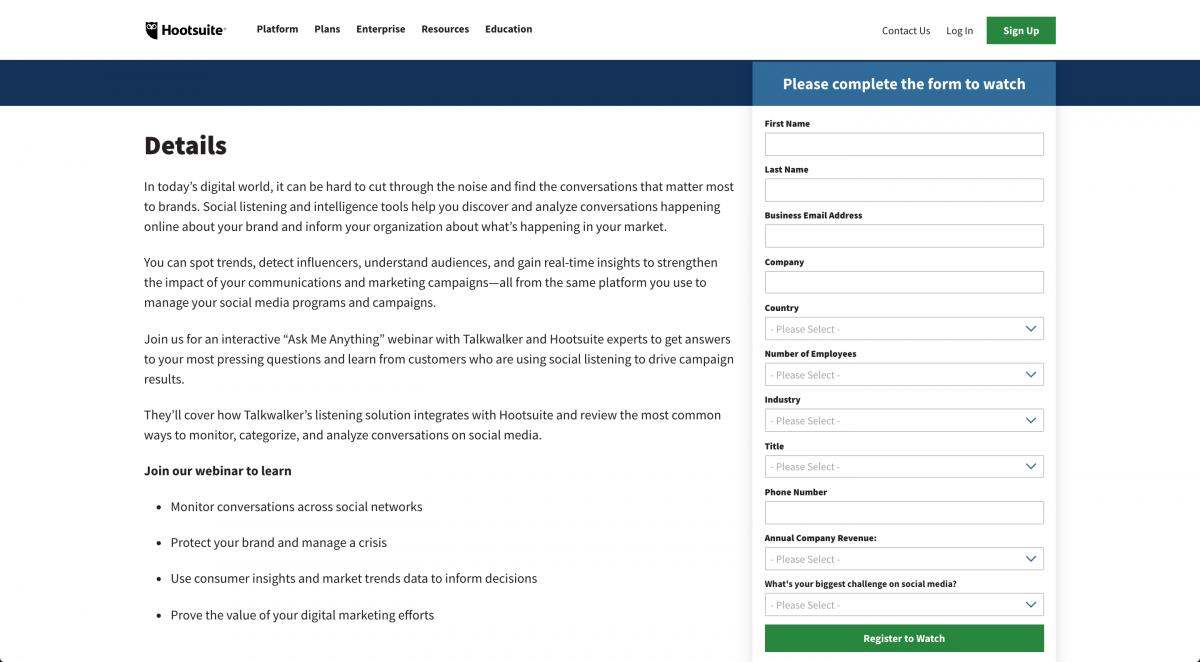 Hootsuite-Webinar-Registration-Form