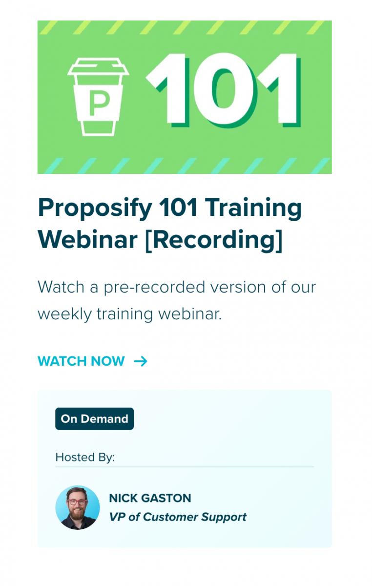 Proposify-101-Training