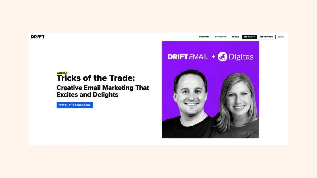 Webinar-Drift-Email