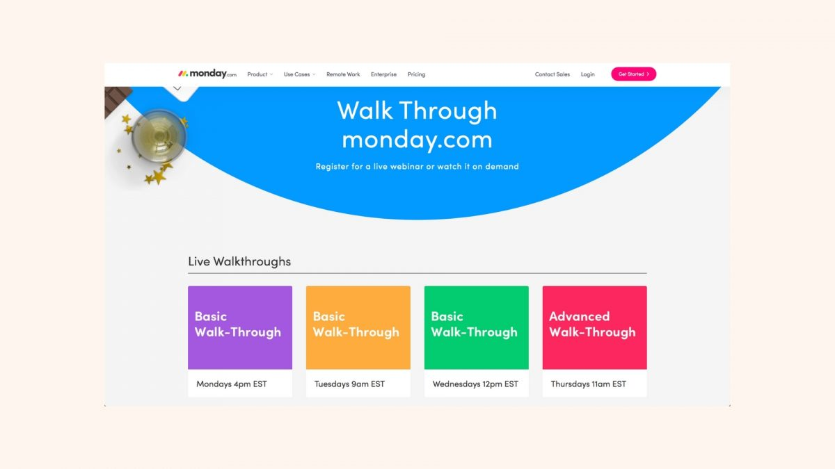 Monday.com Demo Webinars