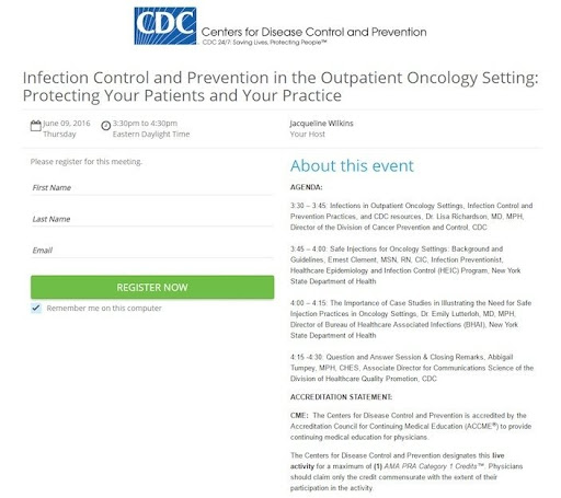 Example from CDC webinar