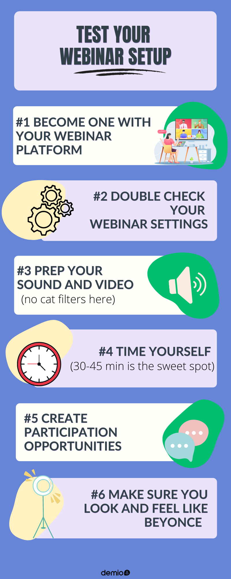 webinar setup infographic