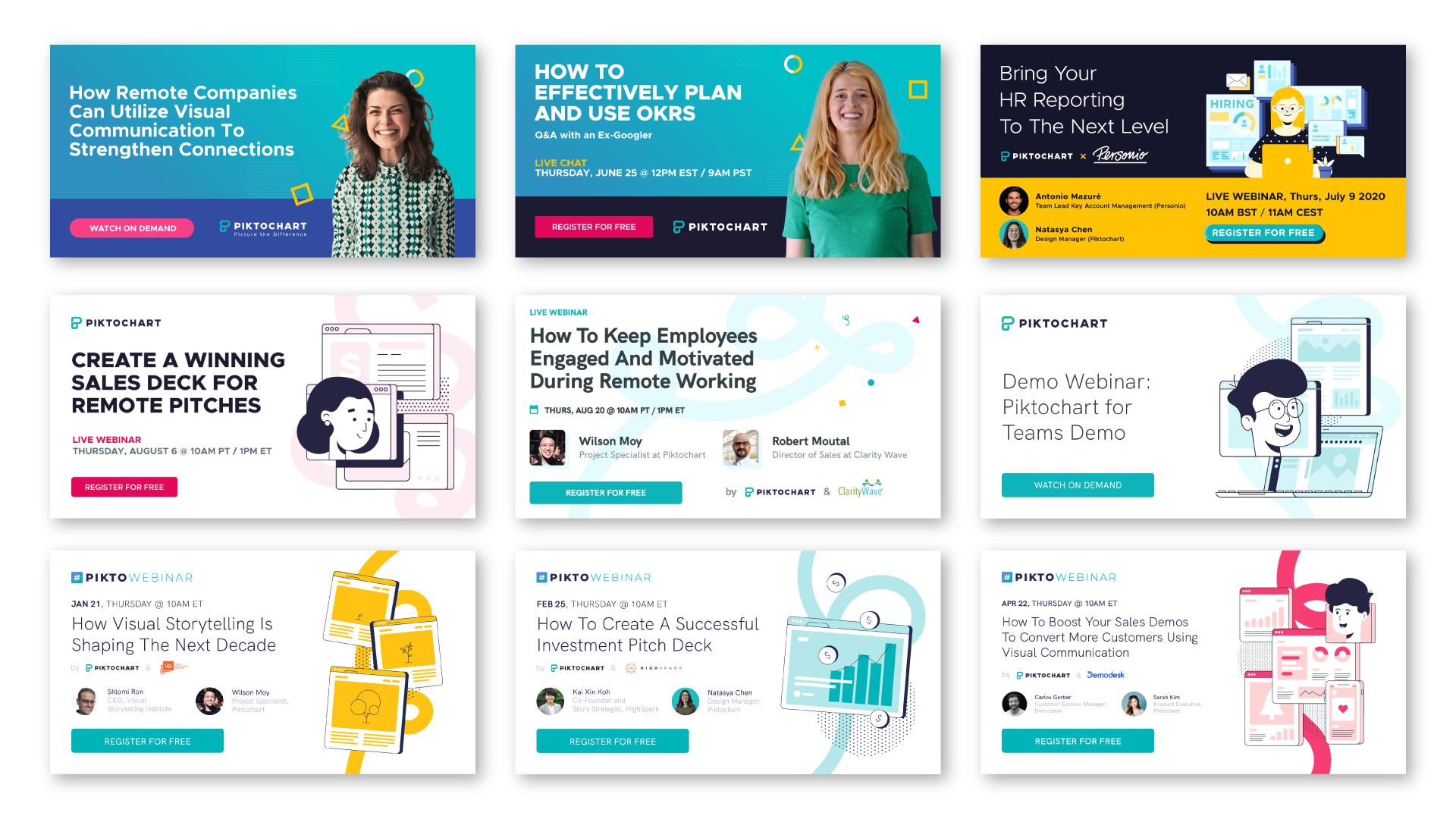 webinar promotion ideas using illustrations