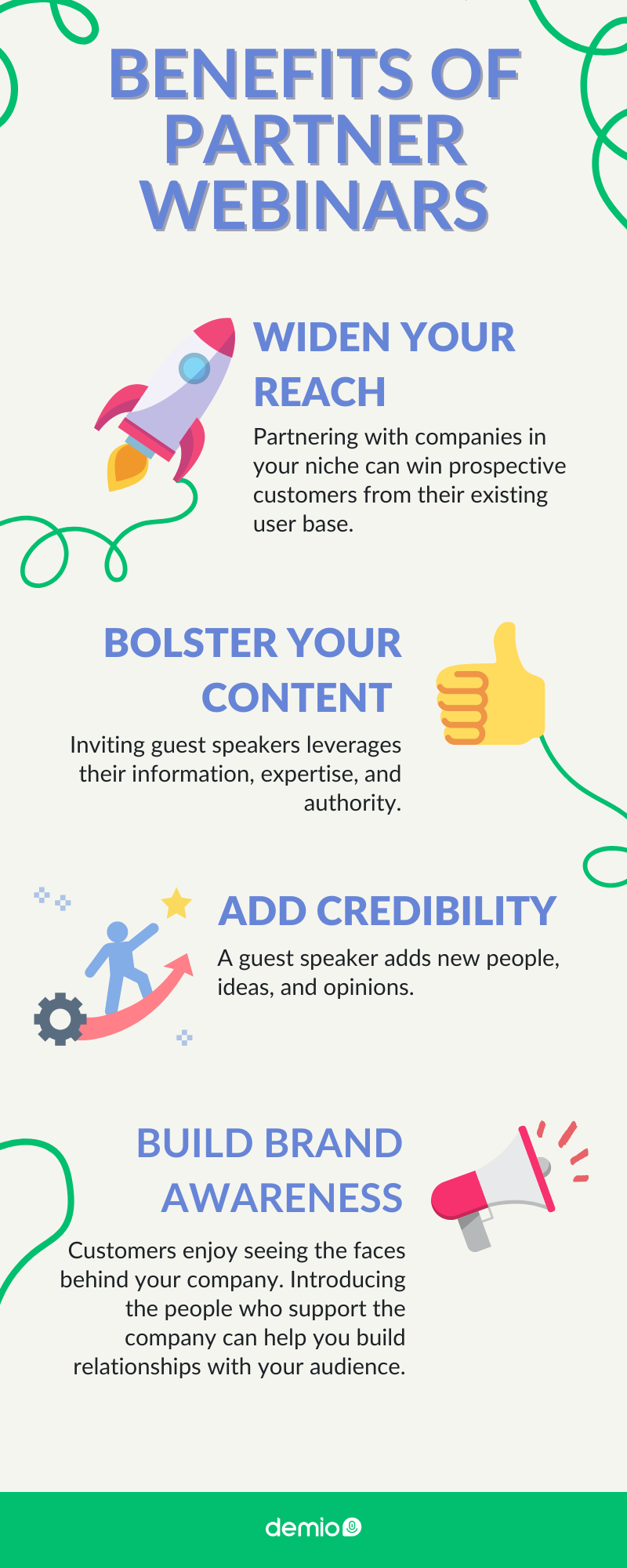 Benefits of partner webinars